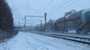 Электровоз ВЛ11М 295Б 298Б 300А с грузовым поездом перегон Латышская Нара 22 12 2018