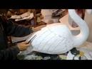 Esculpindo flamingo em isopor parte 2 de 2