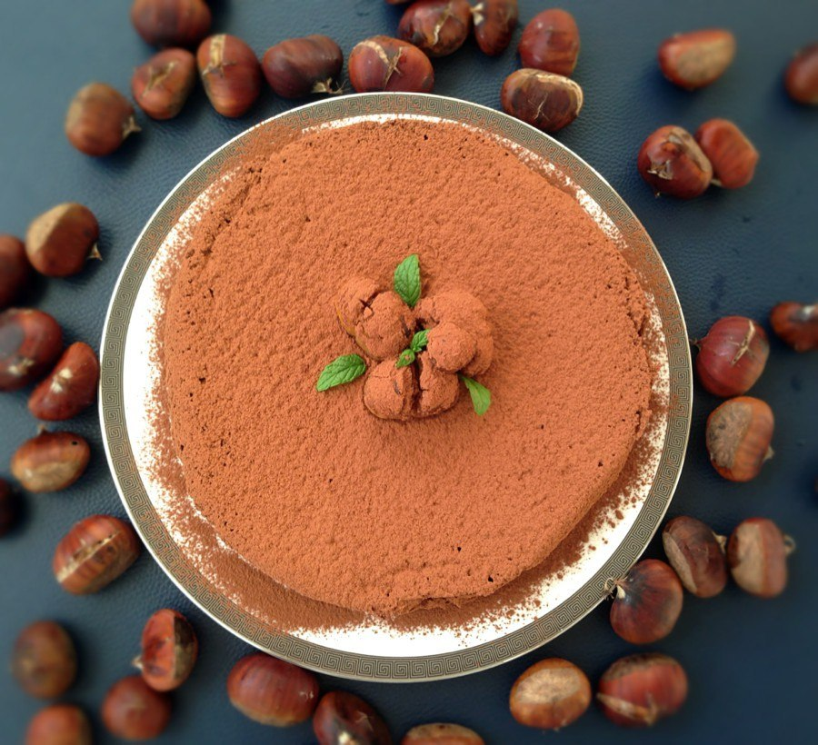 Шоколадно-каштановый трюфельный пирог (без муки). В последние 2