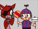 foxy pops the balloon