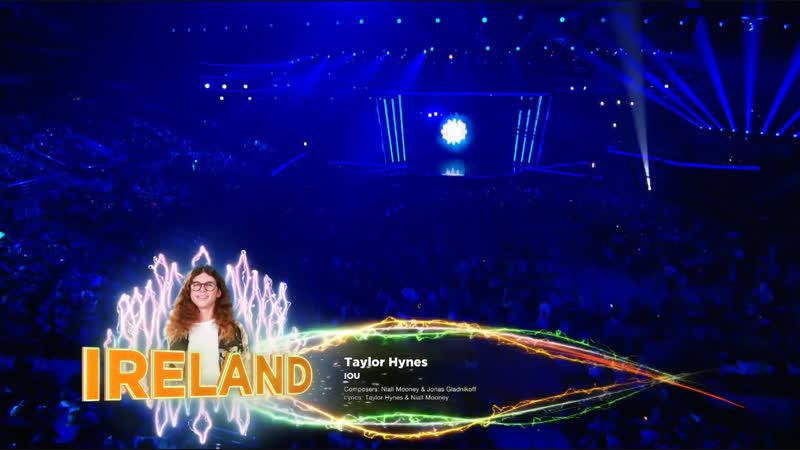 Taylor Hynes - IOU - LIVE - Ireland  - Junior Eurovision 2018