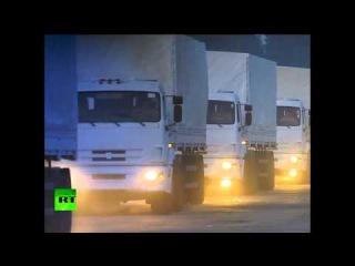 Video: El convoy humanitario ruso sale a la zona de conflicto en Ucrania