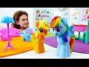 Мой маленький пони: Рейнбоу Деш и Эпл Джек. Новая гостиная из игрушек.