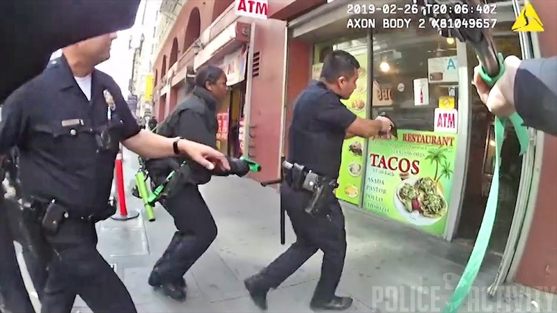 LAPD Officers Use Bean Bag Rounds To Arrest Man Armed With Knife