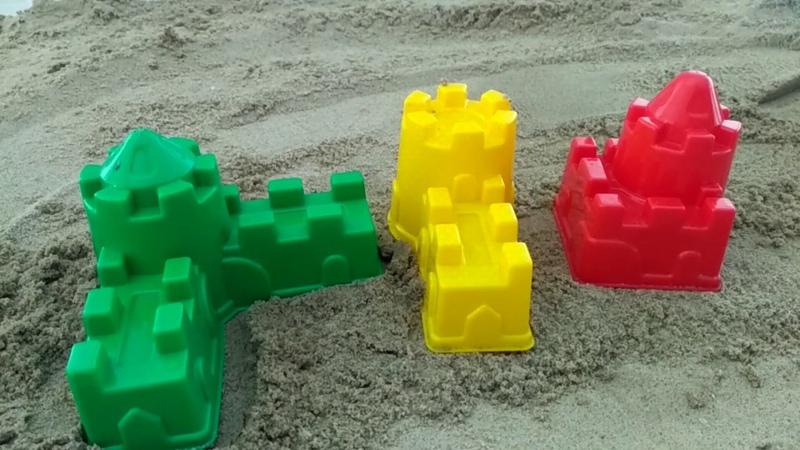 Learn Colors for Children Sand Molds bashni Finger Family Song Nursery Rhymes