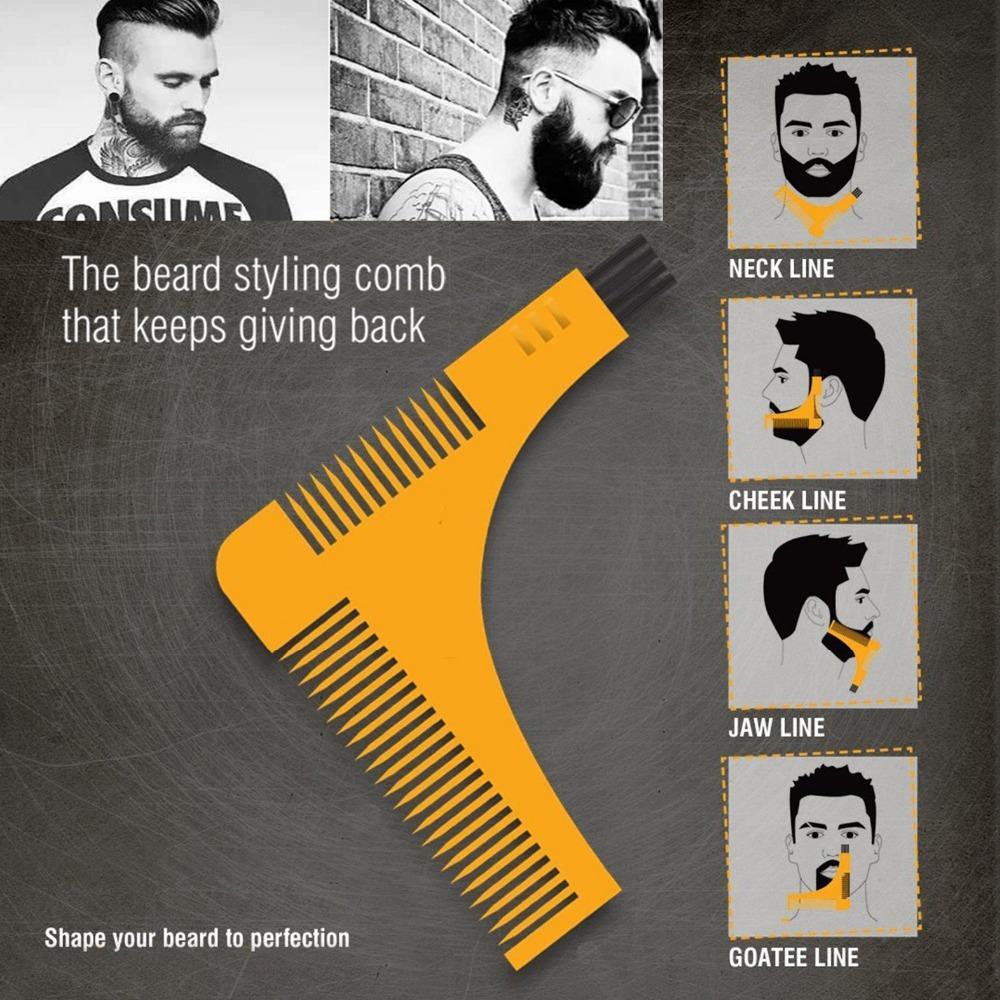 Расческа-лекало для бороды 140