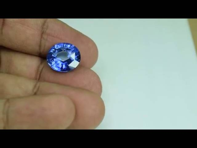 Природные Сапфиры с Цейлона K GEMS МГУ 11,05КТ VVS Ceylon Blue Sapphire