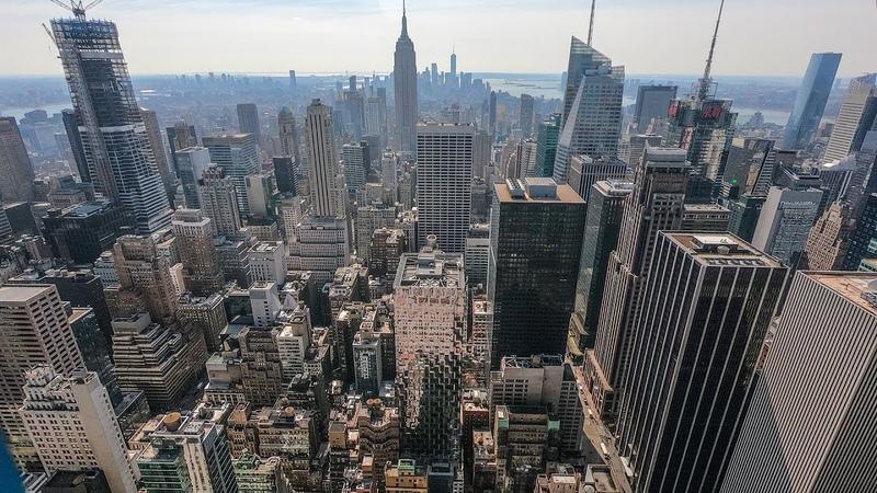 Нью Йорк с высоты птичьего полёта Что осталось от башен близнецов