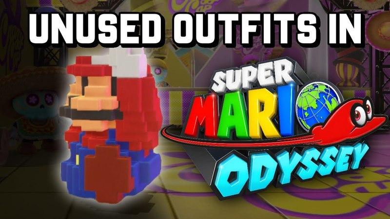GAMEPLAY of All UNUSEDUNRELEASED Outfits in Super Mario Odyssey!