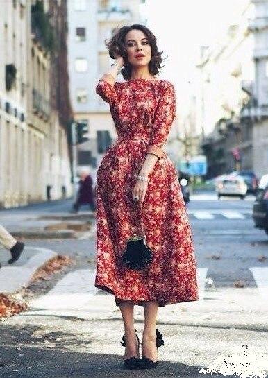 Прекрасные платья длины миди