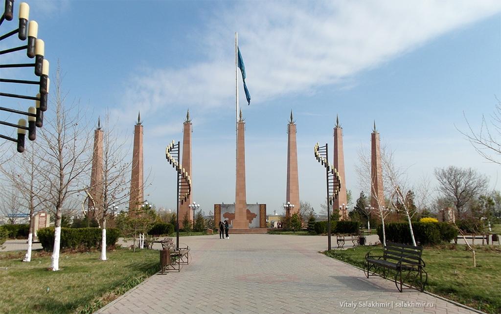 Флаг в Парке Независимости, Шымкент 2019