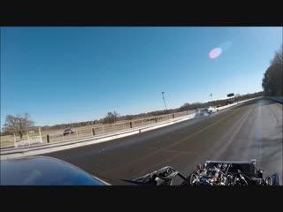Nitrous Camaro vs The Nerd at Sallisaw Outlaw Dragway Oklahoma