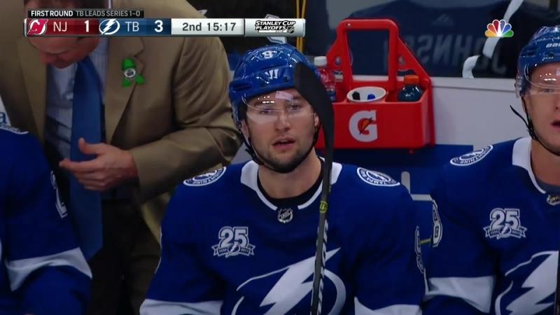 New Jersey Devils vs Tampa Bay Lightning 14 04 2018 Round 1 Game 2 NHL Stanley Cup Playoffs 2018