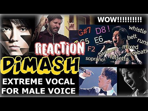 DIMASH EXTREME VOCAL FOR MALE VOICE REACTION By Zeus