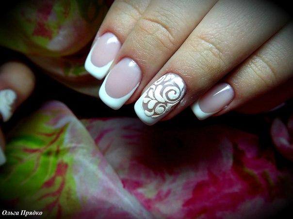 Фото дизайна ногтей с жемчугом