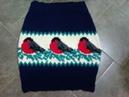 Теплая юбка со снегирями ч 1 Warm skirt with bullfinches р 1 Knitting