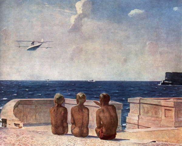 Александ Дейнека. Будущие летчики