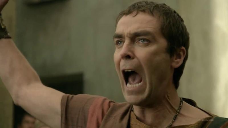 Ганник бьется с завязанными глазами Спартак Боги арены