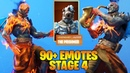 Fortnite [The Prisoner] STAGE 4 Skin Style with 90 Emotes Showcase
