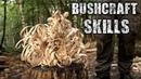 Bushcraft Skills - Axe Knife Skills, Camp Setup, Fire (Overnight Camping)