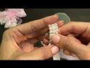 бантики из репсовых лент с кружевом МК Канзаши Алена Хорошилова tutorial diy ribbon bow kanzashi