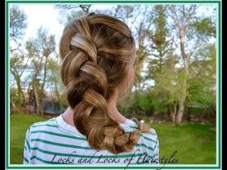 Braided Hairstyles: Puff Dutch Braid