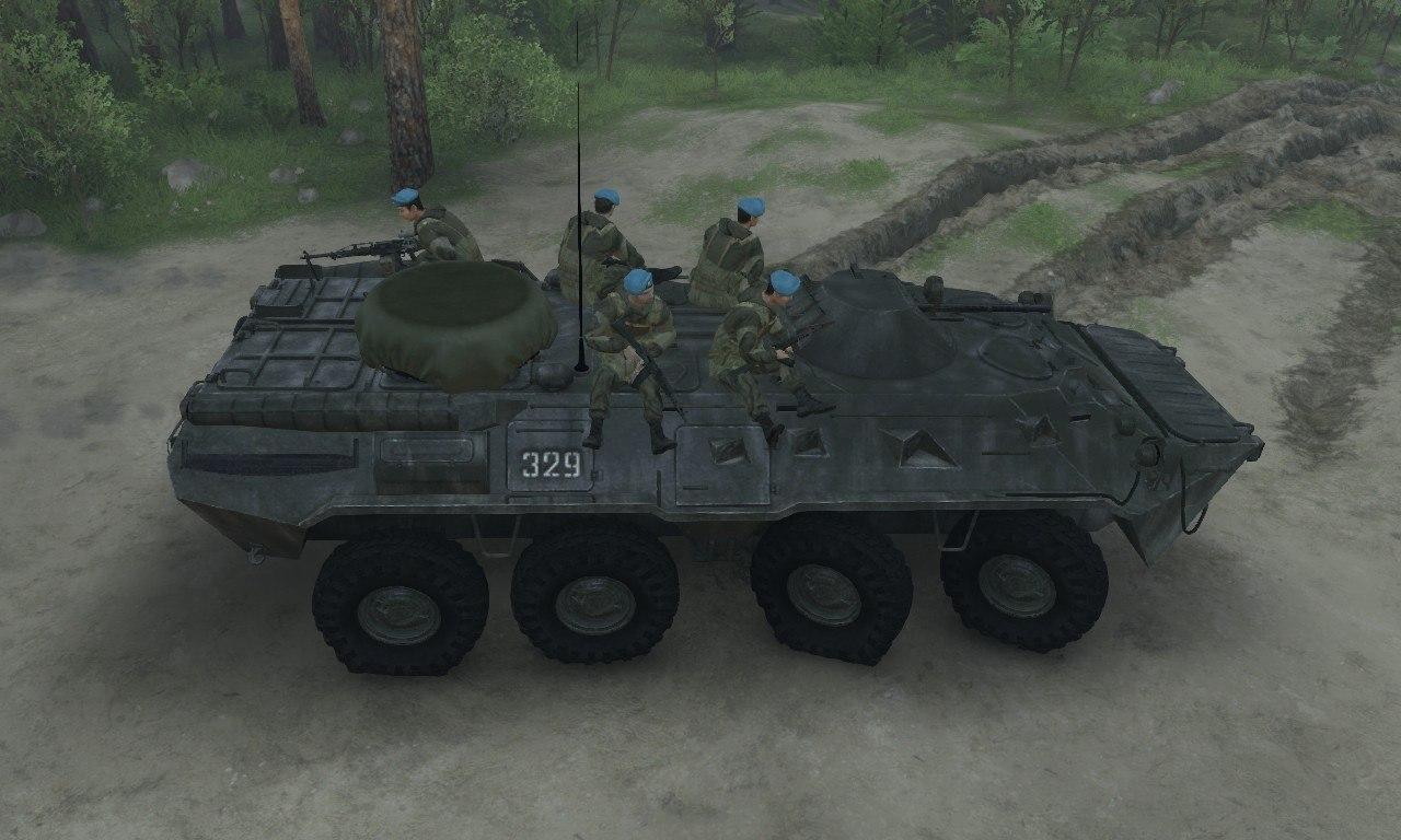 BTR-80 для 03.03.16 для Spintires - Скриншот 1