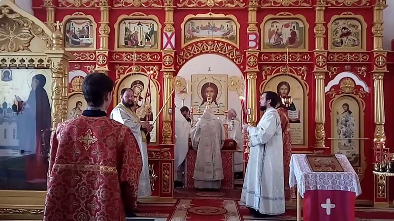 Освящение престола Георгия Победоносца село Палашкино