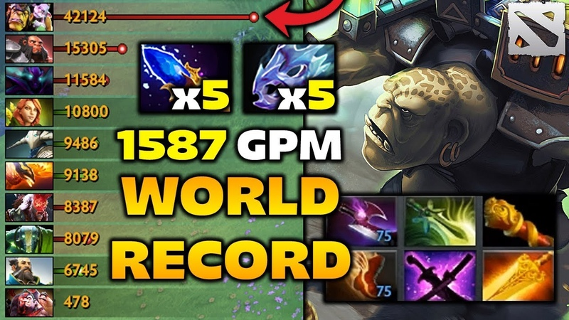Alchemist 1588 GPM WORLD RECORD - Overfarm Highlights Dota 2