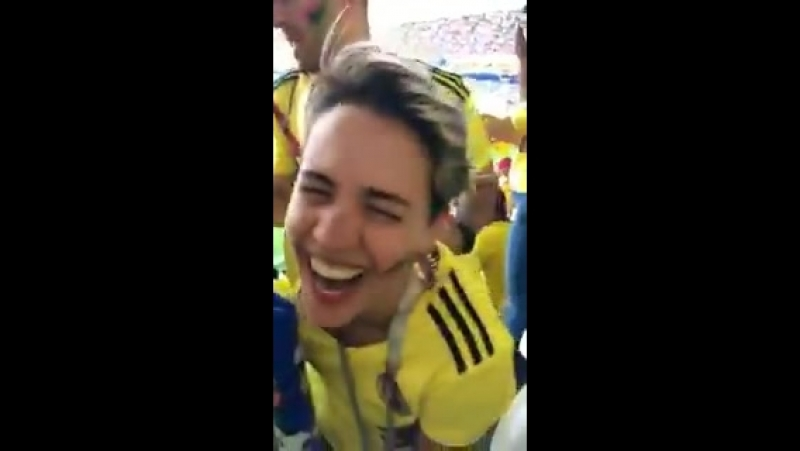 Colombian supporters used a pair of false binoculars to smuggle liquor into yesterday's Japan game.