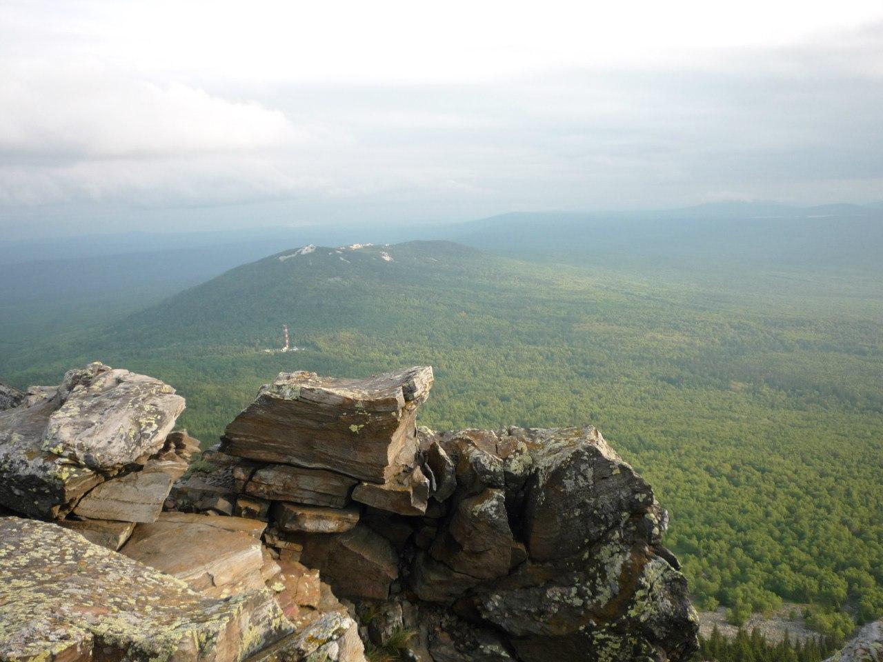 Вид с вершины Второй сопки Уреньги  (20.12.2015)