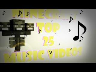 ••°• ●Топ 25 Музыкальных Клипов Minecraft За 2014 Год !!!