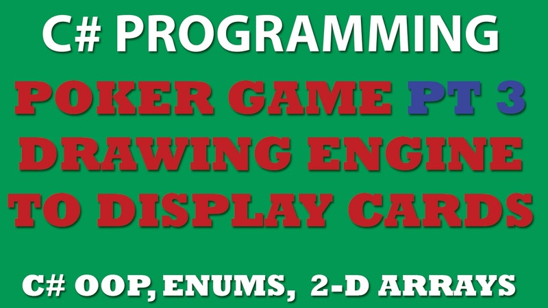C Poker Game Pt3: Creating Drawing Engine for desplaying our cards in Windows Console