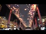 Световое шоу возле торгового центра «The Place» в Пекине