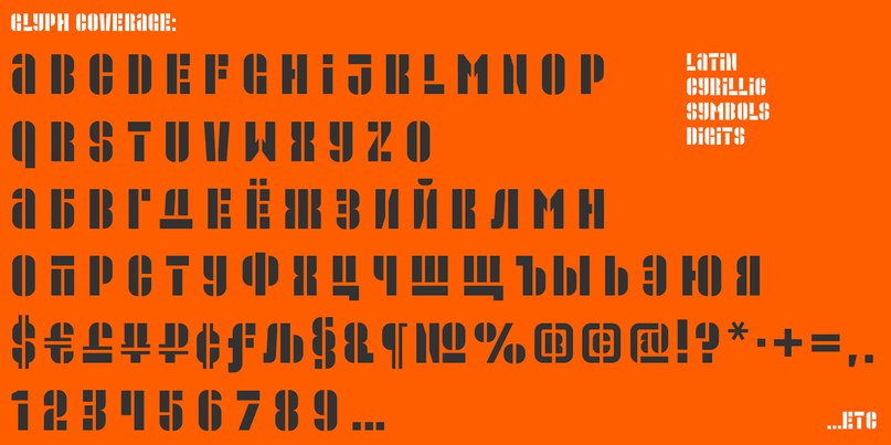 Download Promplate-stencil font (typeface)