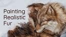Painting Realistic Fur • Krita Speedpaint