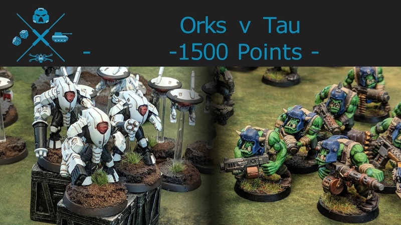 40k Orks vs Tau 1500 point