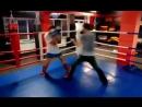 Спарринг - одной левой! Тренер - Адсалам Баркинхоев - мастер спорта по кикбоксингу