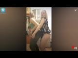 Школьницы показывают себя, пока никого нет дома, пьяные танцы [Periscope / Перископ]