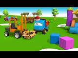 3D мультфильмы для детей - грузовичок Лёва и Новый Год - мультик конструктор Новогодняя Елка