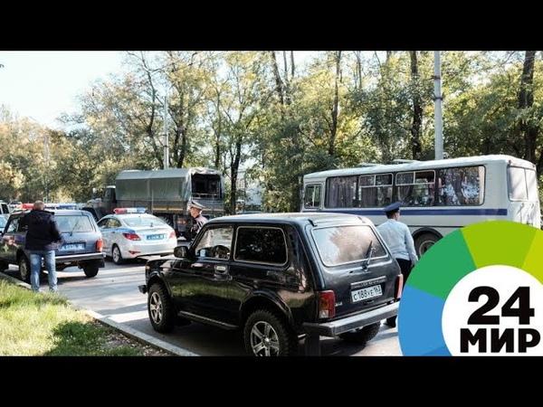 Очевидцы о трагедии в Керчи От взрыва вылетели окна все убегали через забор МИР 24