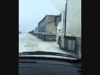 Затор в Среднем Егорлыке  Ростов-на-Дону Главный