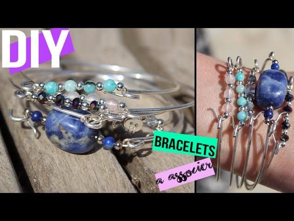 DIY┋BRACELET PERLES SEMI PRECIEUSES A ASSOCIER summerchallenge Beaded bracelet cuff DIY français