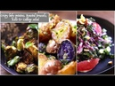 Crispy Baby Potatoes, Roasted Brussel Sprouts, Kale Cabbage Salad