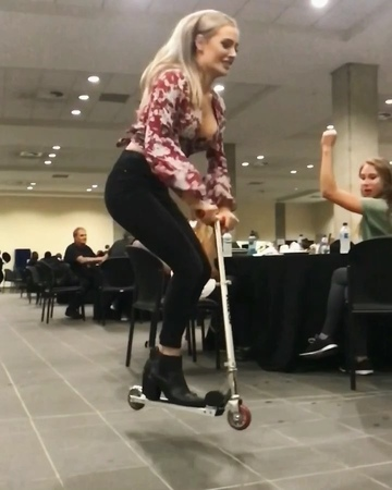 """Ryan Williams on Instagram: """"@AlexProut the Scooter Queen!👸🏼 What do you RATE her bunnyhop out of 10? scooter girl power hop slayer MyGirlfri..."""