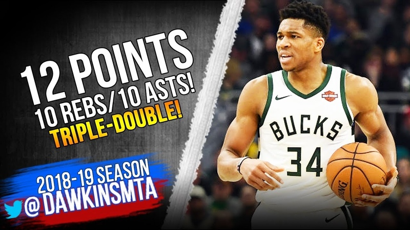 Giannis Antetokounmpo Triple-Double 2019.01.15 Bucks vs Heat - 12-10-10! | FreeDawkins