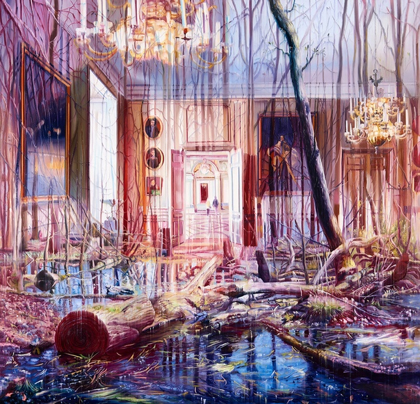 Многоплановые картины маслом от Jacob Brostrup Blur Fremtidens Danmar. Естественная и искусственная среда Эффектно детализированные картины Якоба Брострупа в люминесцентных