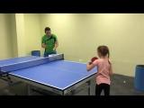 Диляра, тренировка с большим количеством мячей