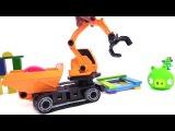 Видео для детей про то как Хрюшка из Angry Birds на игрушечной машинке играла с птичками