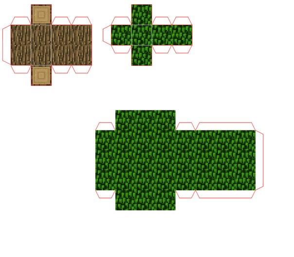 Схема дерева Minecraft!